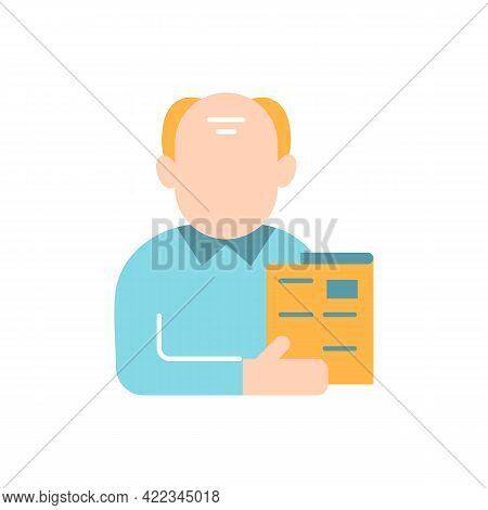 Male Adult Vector Flat Color Icon. Middle-aged Man. Midlife Reevaluation. Mature Person. Person Avat