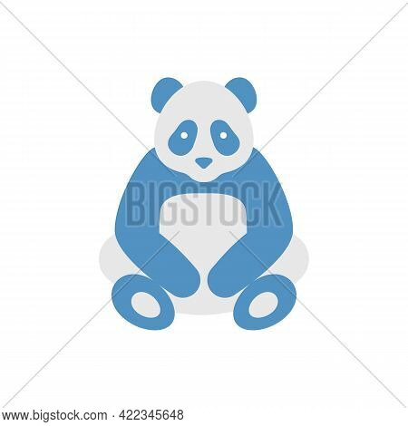 Panda Bear Vector Flat Color Icon. Wildlife Preservation. Chinese Zoo Mascot. Ecology And Environmen