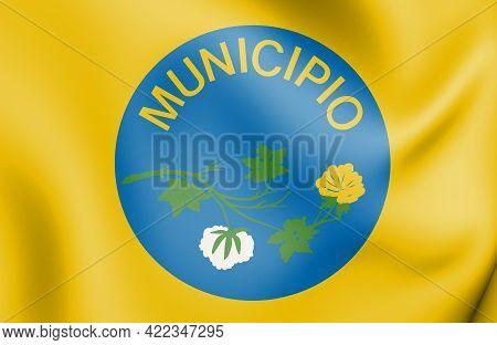 3d Flag Of Sao Mamede (paraiba), Brazil. 3d Illustration.