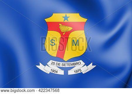 3d Flag Of Sena Madureira (acre), Brazil. 3d Illustration.