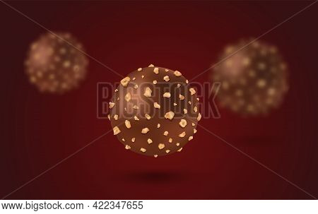 Vector Set Chocolate Candies In Realistic Style. Vector Illustration Of A Chocolate Candy.