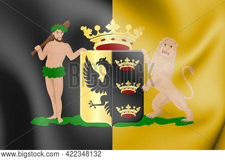 3d Flag Of Sneek (friesland), Netherlands. 3d Illustration.