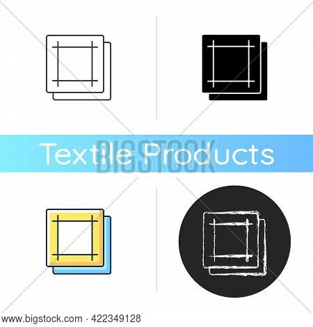 Napkin Icon. Soft Wipes. Kitchen Towels. Clean Linen Sheets. Textile Products, Household Cloths. Dom