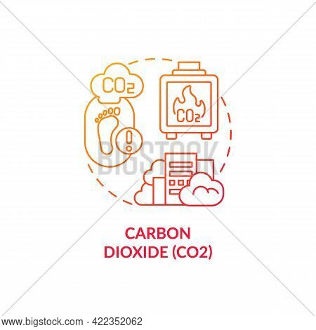 Carbon Dioxide Concept Icon. Greenhouse Gases Type Abstract Idea Thin Line Illustration. Human Indus