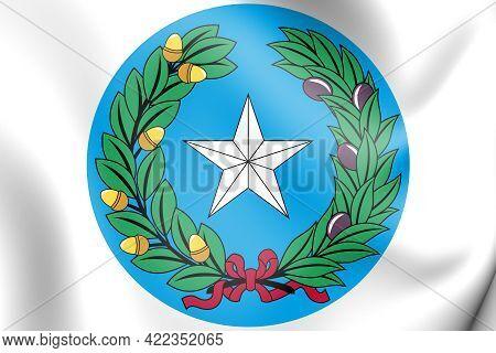3d Republic Of Texas Seal. 3d Illustration.