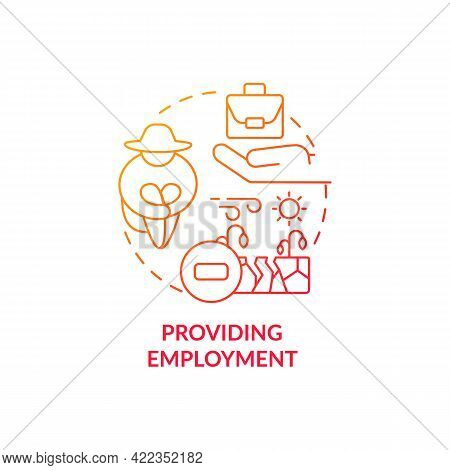 Providing Employment Concept Icon. Carbon Offsetting Abstract Idea Thin Line Illustration. Caring Fo