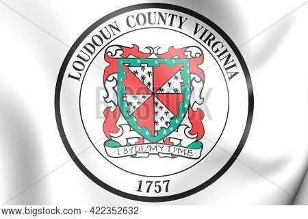 3d Seal Of Loudoun County (virginia), Usa. 3d Illustration.