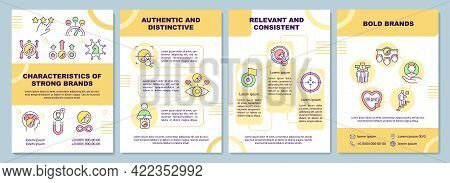 Characteristics Of Strong Brands Brochure Template. Bold Brands. Flyer, Booklet, Leaflet Print, Cove