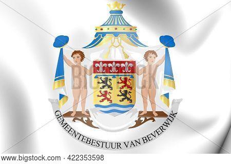 3d Beverwijk Coat Of Arms (north Holland), Netherlands. 3d Illustration.