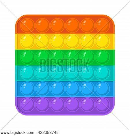 Colorful Fidget Antistress Sensory Toy For Kids. Fidget Sensory Pop It And Simple Dimple Trendy Toy.