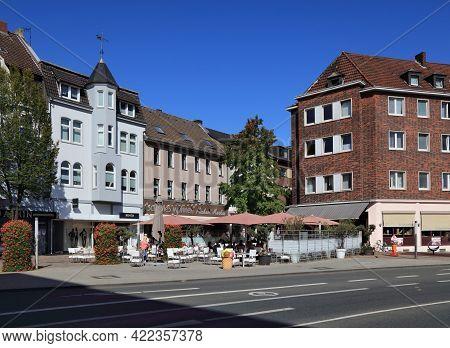 Bottrop, Germany - September 20, 2020: Altmarkt Old Town Square In Bottrop, Germany. Bottrop Is An I