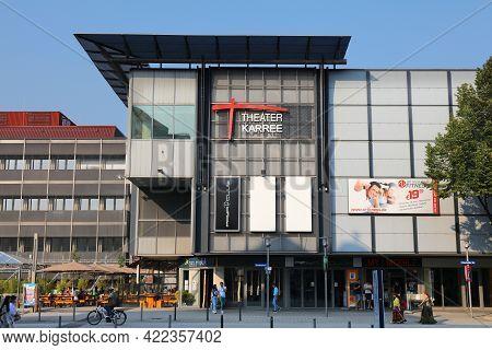Hagen, Germany - September 16, 2020: Theater Karree Shopping Mall In Hagen City, Germany. Hagen Is T