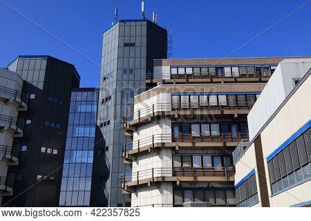 Essen, Germany - September 20, 2020: University Of Duisburg-essen Campus In Essen, Germany. It Is On