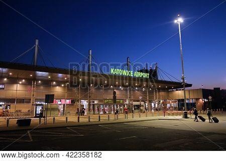 Katowice, Poland - September 16, 2020: Terminal Building Of Katowice Airport In Poland. Katowice Is