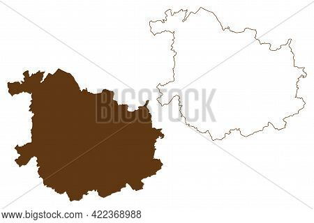 Sankt Wendel District (federal Republic Of Germany, State Of Saarland, Rural District) Map Vector Il