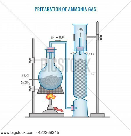 Preparation Of Ammonia Gas In Laboratory With The Help Of Ammonium Chloride And Calcium Oxide. Ammon