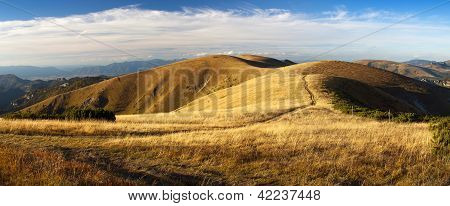early evening or late afternoon autumnal view from Velka Fatra mountains