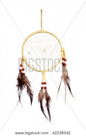 Dream Catcher, the legend of the American Indians. The web of it would filter all dreams and allow only the good dreams to flow through the woven net and openings in the circle.