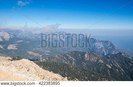 The Coast Of Mediterranean Sea On The Turkish Riviera In Antalya Province, Turkey