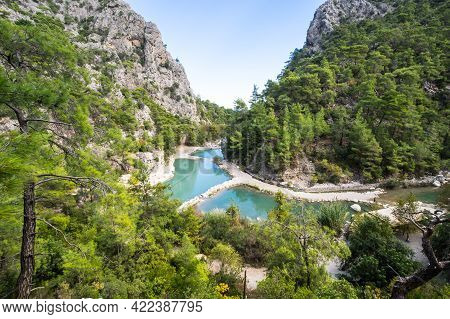 View Of Canyon Goynuk, Located Inside The Beydaglari Coastal National Park, Kemer District In Antaly