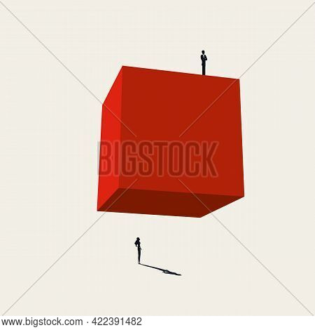 Business Gender Inequality Vector Concept. Symbol Of Unequal, Unfair Treatment, Discrimination. Mini