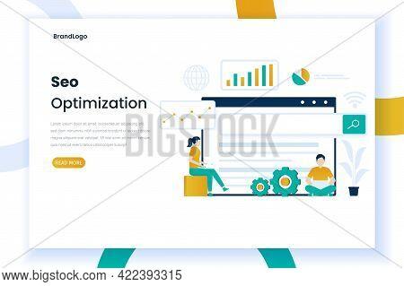 Seo Landing Page Illustration Design