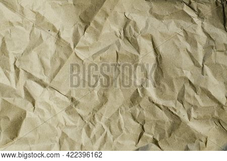 Crumpled Old Paper. Cracks And Folds. Dents