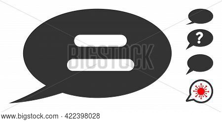 Text Message Icon Designed In Flat Style. Isolated Vector Text Message Icon Image On A White Backgro