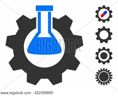 Chemical Industry Icon With Flat Style. Isolated Vector Chemical Industry Icon Image On A White Back