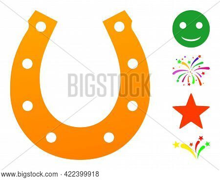 Lucky Horseshoe Icon Designed In Flat Style. Isolated Vector Lucky Horseshoe Icon Illustrations On A