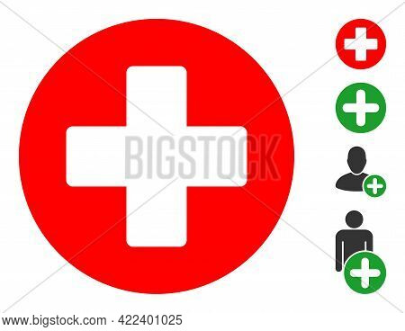 Healthcare Icon With Flat Style. Isolated Vector Healthcare Icon Illustrations On A White Background