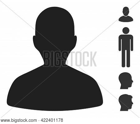 Person Profile Icon Designed In Flat Style. Isolated Vector Person Profile Icon Illustrations On A W