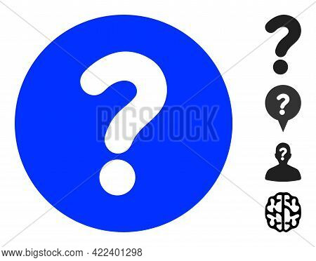 Query Icon With Flat Style. Isolated Vector Query Icon Image On A White Background, Simple Style. So