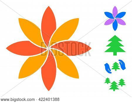 Flower Icon Designed In Flat Style. Isolated Vector Flower Icon Illustrations On A White Background,