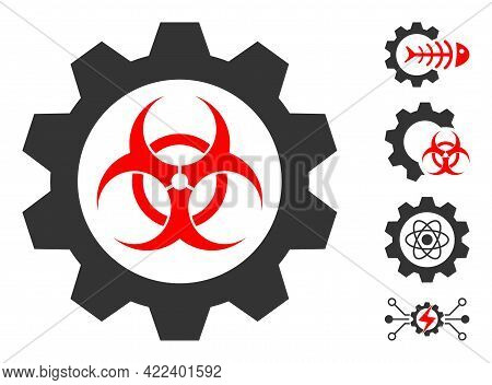Toxic Industry Icon Designed In Flat Style. Isolated Vector Toxic Industry Icon Illustrations On A W