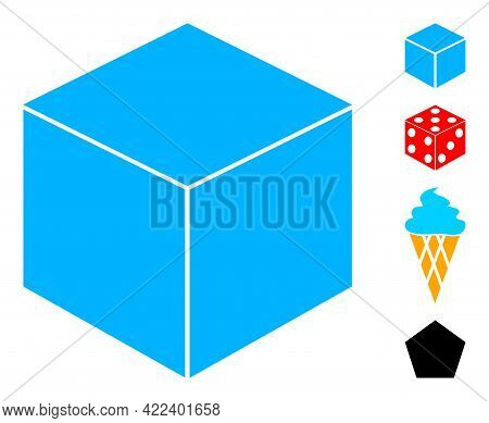 Sugar Cube Icon Designed In Flat Style. Isolated Vector Sugar Cube Icon Image On A White Background,