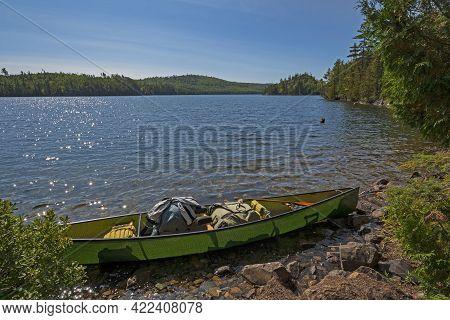 Taking A Break On A Sunny Day On Kekekabic Lake In The Boundary Waters In Minnesota
