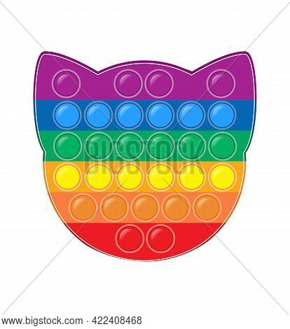 Pop It Anti-stress Vector In The Shape Of A Cat S Head. An Anti-stress Game For Autists. Popular Mod