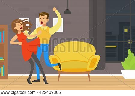 Couple Fighting And Shouting At Each Other, Conflict Between Husband And Wife, Divorce, Human Relati