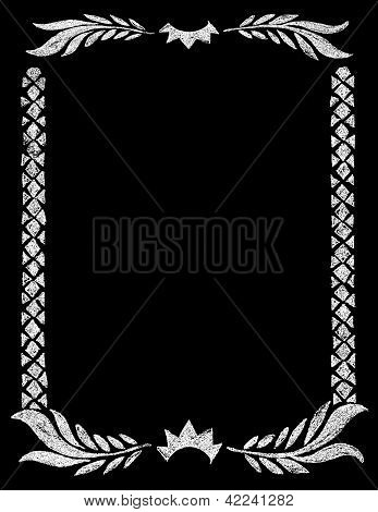 Chalk Board Rustic Crown Frame Border