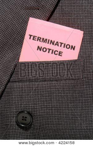 Executive Pink Slip Termination Notice