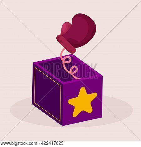 Isolated Box Fist April Fools Humor Icon- Vector