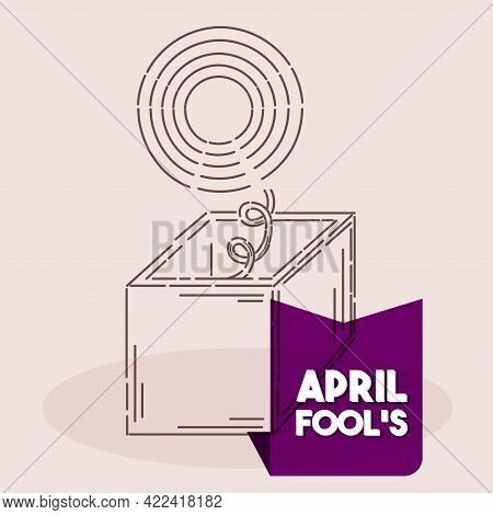 Isolated Box Harlequin April Fools Draw Humor Icon- Vector