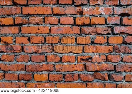 Texture Or Background Masonry Red Old Brick