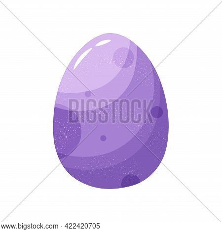 Isolated Purple Easter Egg Symbol Holiday Vector Illustration