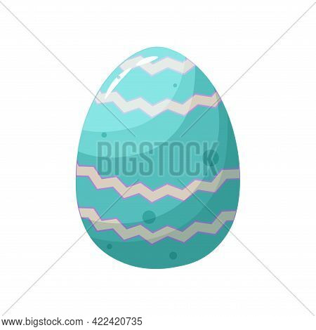 Isolated Blue Easter Egg Symbol Holiday Vector Illustration