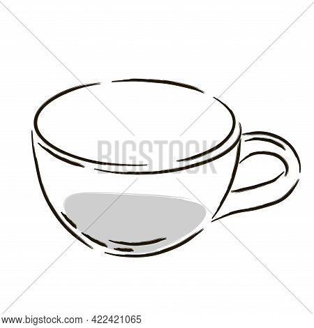 Isolated Cup Coffee Drink Draw Vector Illustration