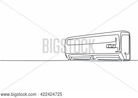 One Single Line Drawing Of Wall Air Conditioner Home Appliance. Electricity Household Living Room To