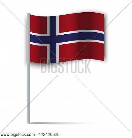 British Flag, United Kingdom Flag Vector. Britain Flag Stick. Vector Illustration. Eps 10.