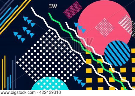 Modern Geometric Elements Shape Style Trending Abstract Design For Vector Background With Different